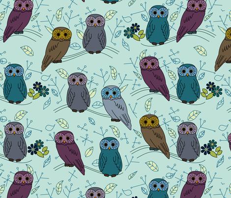 eulen&lerchen_birds#2 fabric by eulen&lerchen on Spoonflower - custom fabric