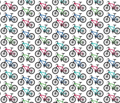 Mountain Bike multi fabric by andibird on Spoonflower - custom fabric