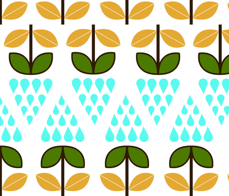 it's rainning! fabric by blingmoon on Spoonflower - custom fabric