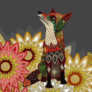 garden floral fox custom 18 inch panel
