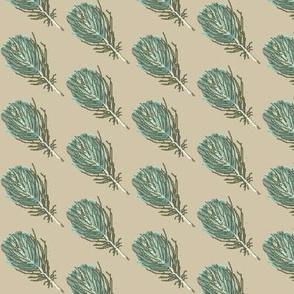 feather aqua