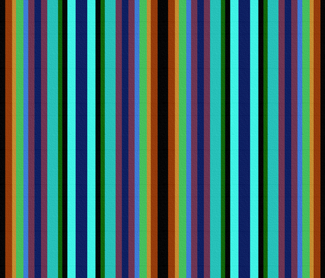 Peacock Stripe fabric by peacoquettedesigns on Spoonflower - custom fabric