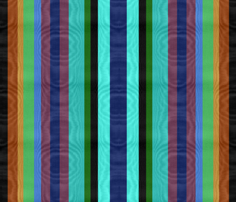 Peacock Striped Moire fabric by peacoquettedesigns on Spoonflower - custom fabric