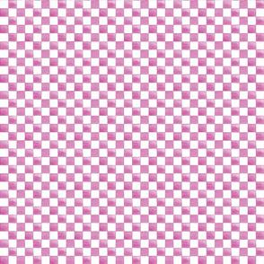 Pink watercolor checkerboard