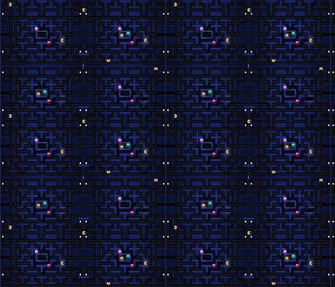 pacman fabric by geekinspirations on Spoonflower - custom fabric