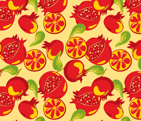 SF_karo_pomegr1 fabric by karos_designs on Spoonflower - custom fabric