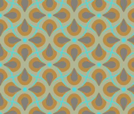 featherly aqua fabric by katarina on Spoonflower - custom fabric