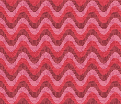 Strawberry Ripple with ancient text fabric by meredithjean on Spoonflower - custom fabric