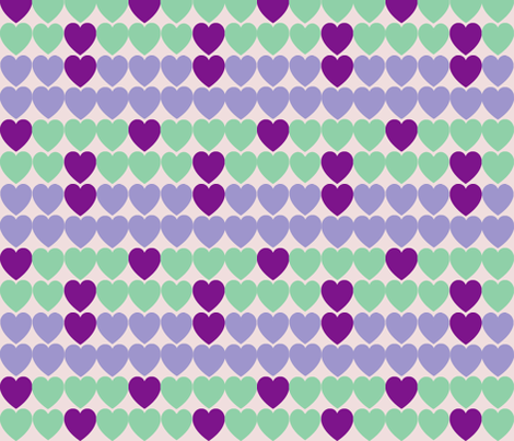 heartrepeat3 fabric by palooka on Spoonflower - custom fabric