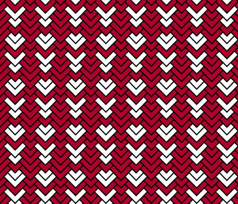 Peppermint Chevron II fabric by pond_ripple on Spoonflower - custom fabric