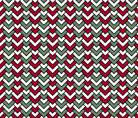 Christmas Chevron fabric by pond_ripple on Spoonflower - custom fabric