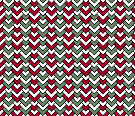 Christmas Chevron fabric by pond_ripple on Spoonflower - custom fabric