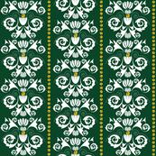 Jingle Bell Damask - Green