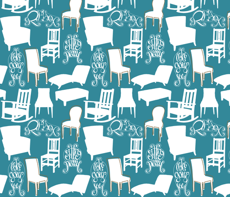 TakeYourSeatBlue fabric by tammikins on Spoonflower - custom fabric