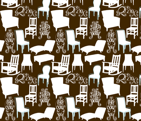 TakeYourSeatBrown fabric by tammikins on Spoonflower - custom fabric