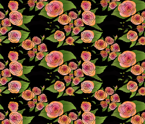 Coming up Roses fabric by aftermyart on Spoonflower - custom fabric