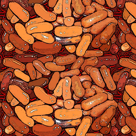 Cocktail Franks cartoon style fabric by eve_s on Spoonflower - custom fabric