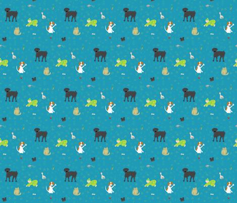 Nicholas and friends fabric by amacordamy on Spoonflower - custom fabric