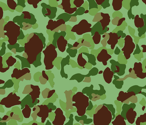 WWII USMC Marine and Army Camouflage fabric by ricraynor on Spoonflower - custom fabric