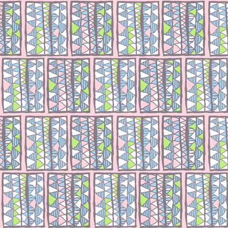Gelati registers on pink, small fabric by su_g on Spoonflower - custom fabric