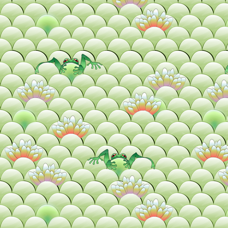froggie fabric by glimmericks on Spoonflower - custom fabric
