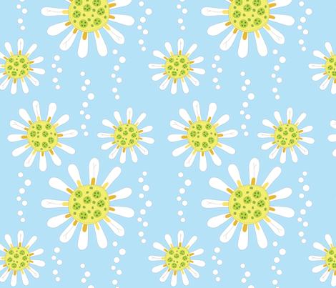 Daisy fabric by roarin_betty on Spoonflower - custom fabric