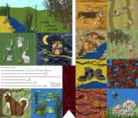 Friends of Forest and Field fabric by jmckinniss on Spoonflower - custom fabric