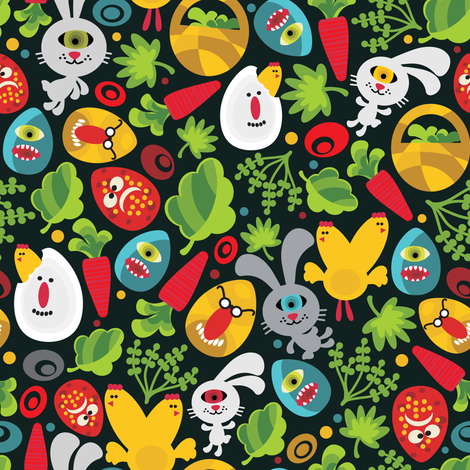 Ugly easter. fabric by panova on Spoonflower - custom fabric