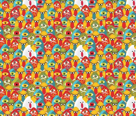 Eggs monster. fabric by panova on Spoonflower - custom fabric