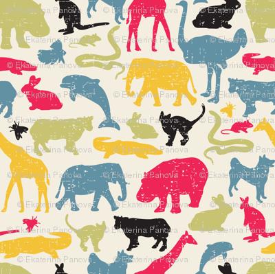 Retro animals.