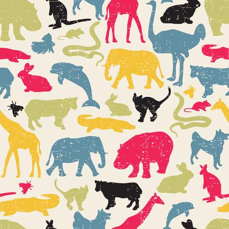 Retro animals. fabric by panova on Spoonflower - custom fabric