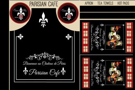 Parisian Cafe Apron fabric by paragonstudios on Spoonflower - custom fabric