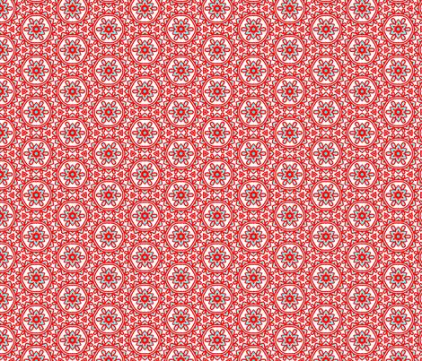 Chesna_orange_turquoise fabric by callycreates on Spoonflower - custom fabric