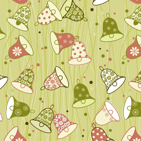 vector bells fabric by anastasiia-ku on Spoonflower - custom fabric