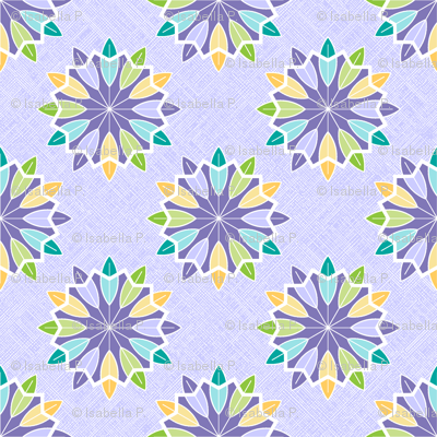 Feather Rosette - Grape