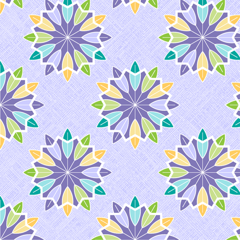 Feather Rosette - Grape fabric by inscribed_here on Spoonflower - custom fabric