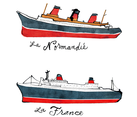 french liners dolls fabric by bowsprite on Spoonflower - custom fabric