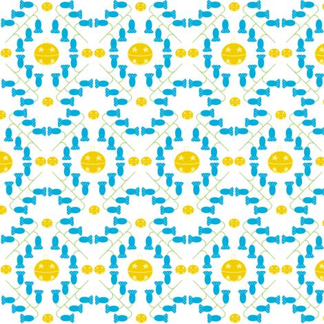 bluebells & gold bells fabric by squeakyangel on Spoonflower - custom fabric