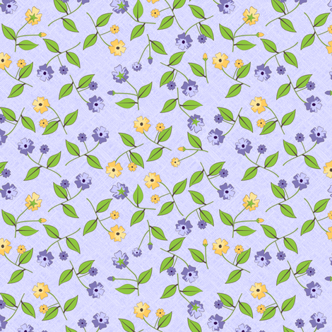 Flowers for the Pretty Birds - Grape fabric by inscribed_here on Spoonflower - custom fabric