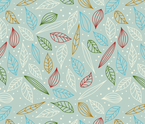 eulen&lerchen_leave#1 fabric by eulen&lerchen on Spoonflower - custom fabric