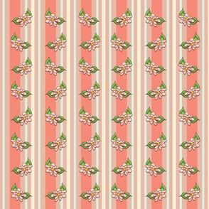 Terra Cotta Floral Stripes
