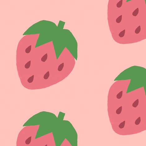 Big Strawberries fabric by adorpheus on Spoonflower - custom fabric