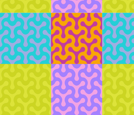 colorful squiggles fabric by chickoteria on Spoonflower - custom fabric