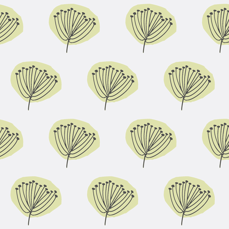 Pods in Grey and Olive fabric by bluenini on Spoonflower - custom fabric