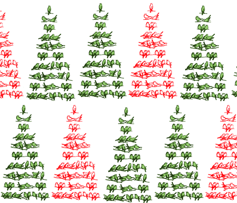 Vintage Christmas Tree  fabric by icarpediem on Spoonflower - custom fabric