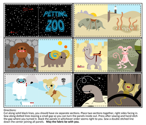 Petting Zoo Baby Book fabric by thirdhalfstudios on Spoonflower - custom fabric