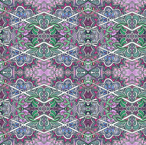 Peering Through the Chain Link Fence fabric by edsel2084 on Spoonflower - custom fabric