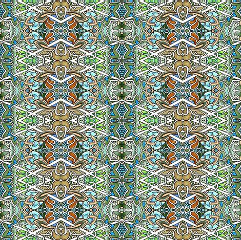 Interlocking Diamond Floral Stripe fabric by edsel2084 on Spoonflower - custom fabric
