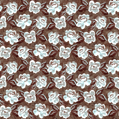 Rose on Parchment Ice fabric by kezia on Spoonflower - custom fabric