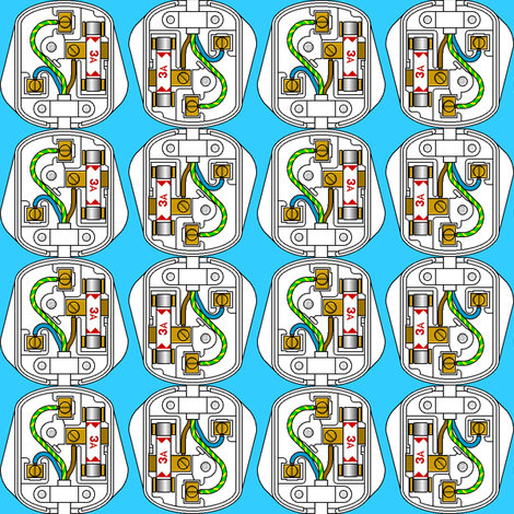 plugging away 2 fabric by sef on Spoonflower - custom fabric